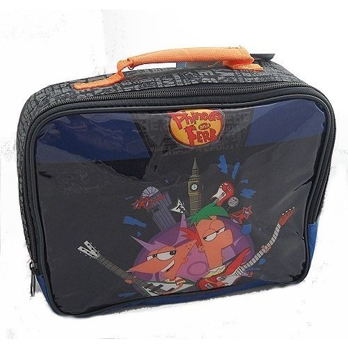 Phineas and Ferb ´Blue´ Insulated Lunch Bag Nursery School Picnics