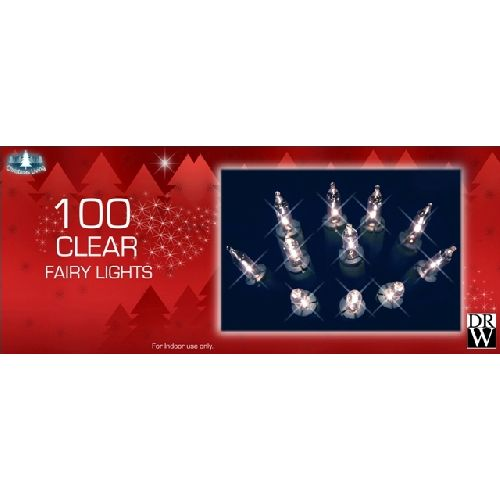 100 Clear Fairy Lights Christmas Tree Decorations Xmas