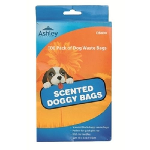 100 Pack Scented Dog Waste Bags Doggy Mess Clean Up