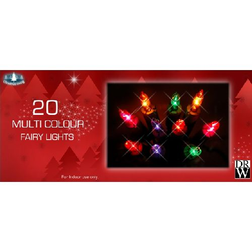 20 Multi Colour Fairy Lights Christmas Tree Decoration Xmas Party