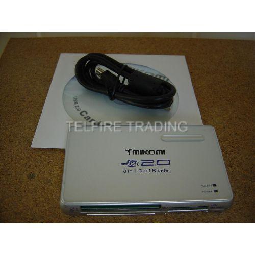 Mikomi USB-2.0 Media 8 in 1 Card Reader
