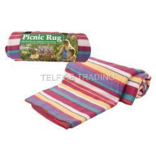 Picnic Rug Camping Blanket Travelling Car Rug Fleece