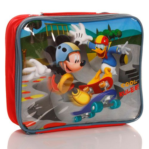 Disney Mickey Mouse Insulated Lunch Bag Childs Kids Cool Rules