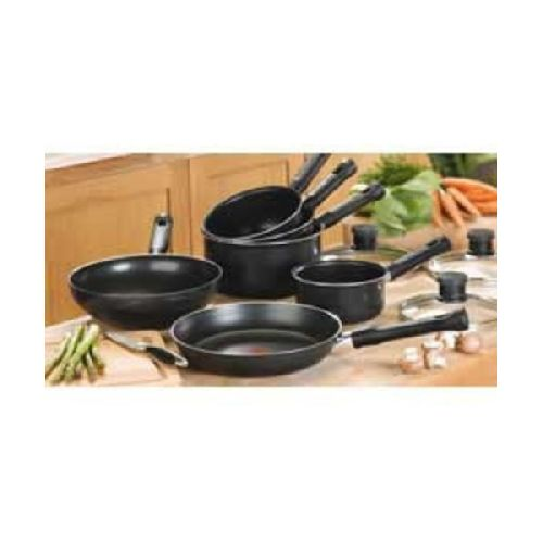 Tefal 6 Piece Black Actua Kitchen Saucepan Set