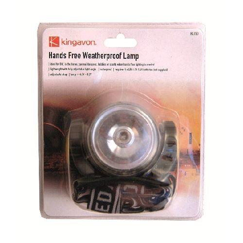 Hands Free Waterproof Head Lamp Working Light Torch
