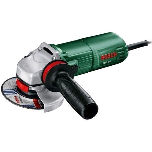 Bosch PWS 600 Angle Grinder in Case + 2 Diamond Discs