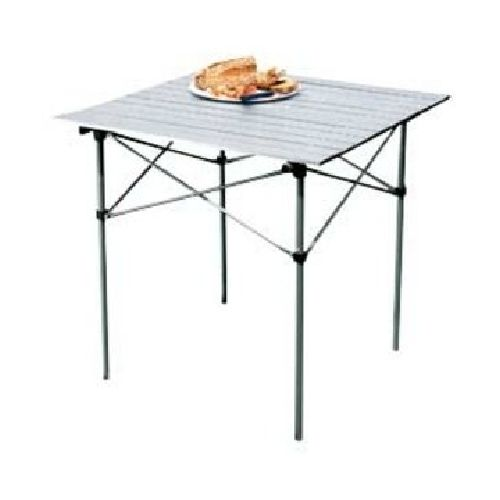 Aluminium Folding Slatted Camping Table + Carry Bag