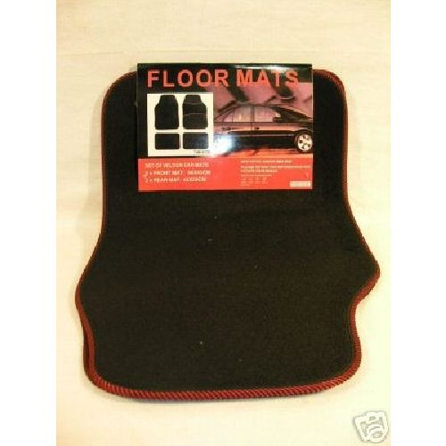 Set of 4 Black Velour Quality Car / Van Floor Mats