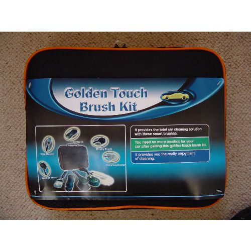 Complete Car Cleaning Golden Brush Kit in a Bag