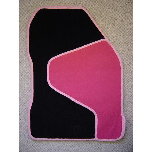 Minxy Pink Car mats Black & Pink