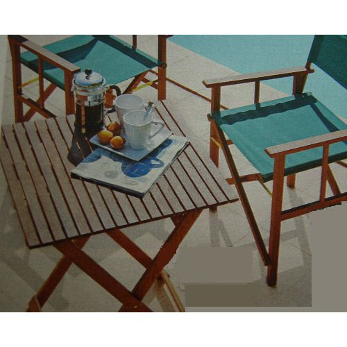 Bistro Wooden Folding Square Garden Patio Table
