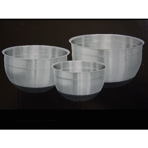 Set of 3 Stainless Steel Mixing Bowls with Silicon Base
