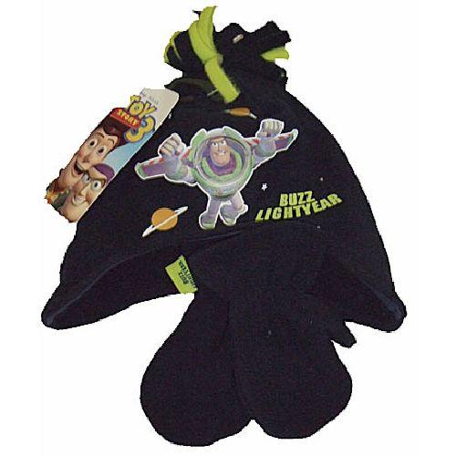 Disney Toy Story 3 Childs Kids Fleece Hat And Mitten Glove Set 2-4 Years
