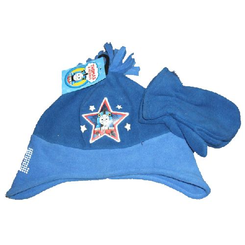 Thomas The Tank Engine Childs Kids Fleece Hat & Mitten Glove Set 2-4 Yrs