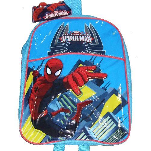 Spiderman Junior Backpack Childs Kids Rucksack School Nursery Bag Blue