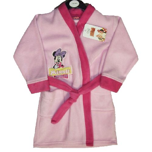 Disney Minnie Mouse Dressing Gown Childs Kids Robe Ages 2-3 Years