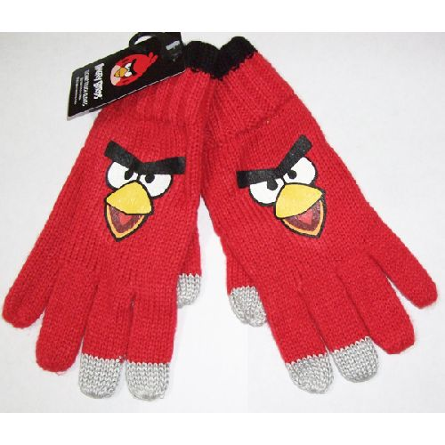 Angry Birds Red Techno Gloves Childs Kids - Age: 4 - 8 Years
