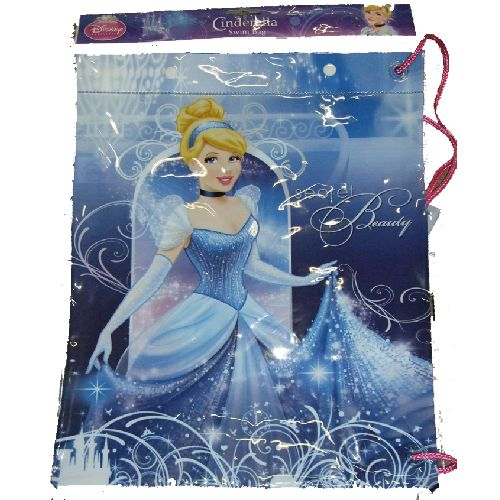 Cinderella Disney Princess Swimming Bag Childs Kids Swim PVC Pool Beach