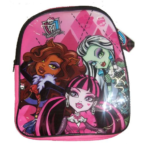 Monster High Junior Backpack Childs Kids Rucksack Nursery School Bag