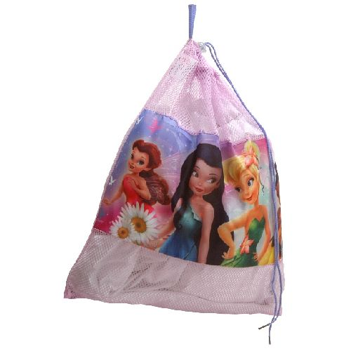 Disney Fairies Tinkerbell Drawstring Tidy Gym Bag School Toy Bag PE