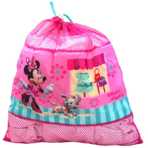 Disney Minnie Mouse Drawstring Gym Bag School Bag Toys PE