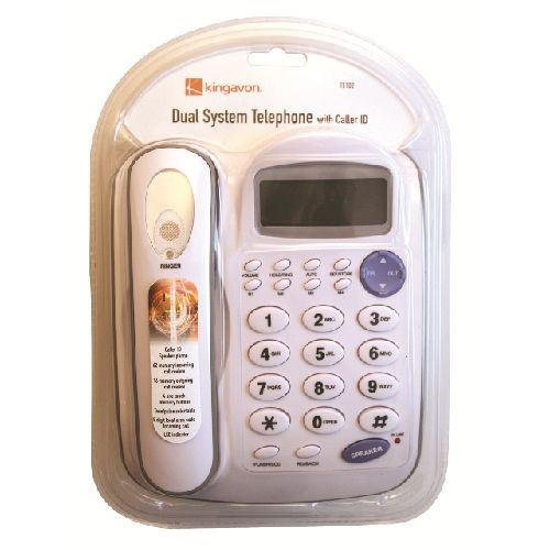 Kingavon Dual System Telephone With Speakerphone Caller ID Phone