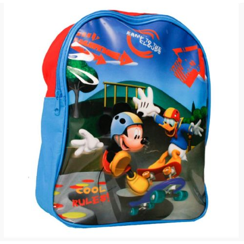 Disney Mickey Mouse Junior Backpack Childs Kids Rucksack Bag Cool Rules