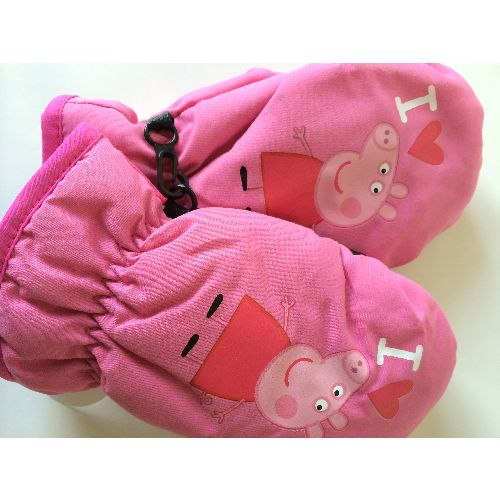 Peppa Pig Mittens Childs Kids Gloves Pink Girls Ages: 4-6 Years