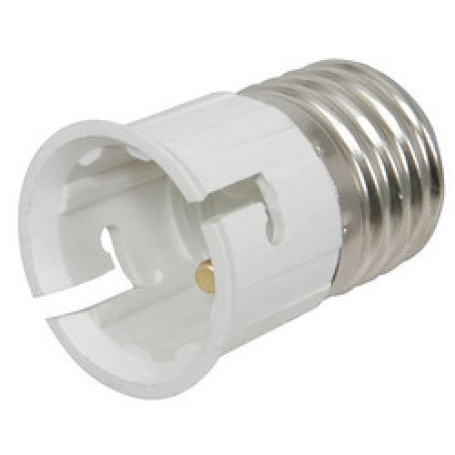 Lamp Socket Bulb Converter Adaptor Bayonet To Screw B22 To E27 Max 60W