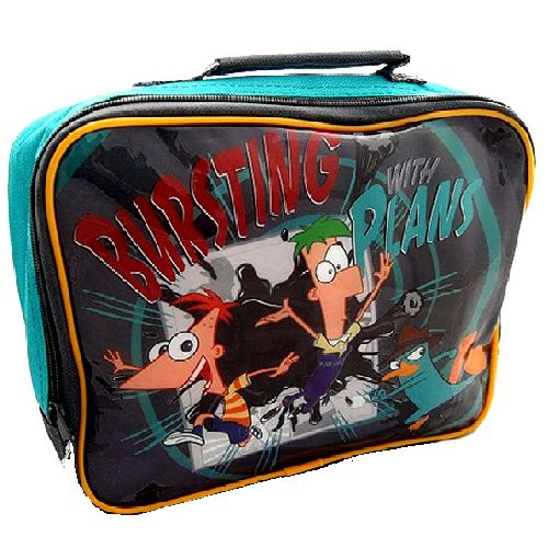 Phineas and Ferb ´Plans´ Insulated Lunch Bag Nursery School Picnics