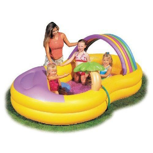 Bestway Palm Tree & Rainbow Play Centre Kids / Childs Paddling Pool