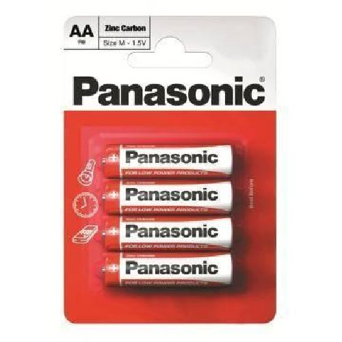 Panasonic AA Batteries (4 Pack) R6 LR6