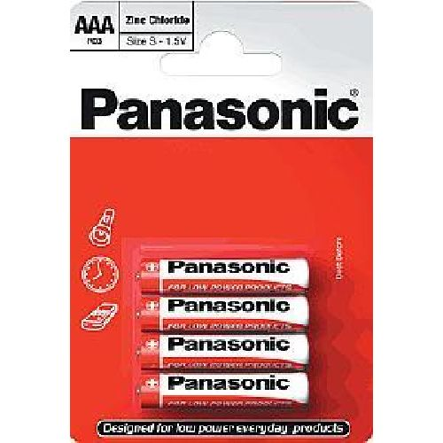 Panasonic AAA Batteries (4 Pack) AM4 LR03