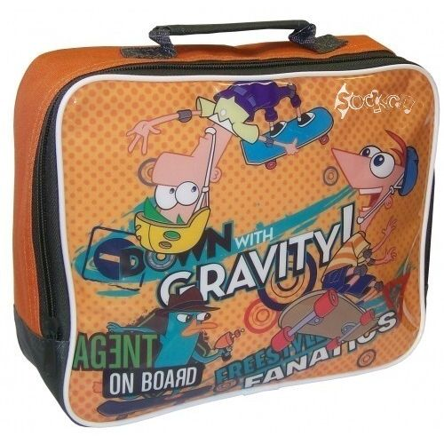Phineas And Ferb Gravity Insulated Lunch Bag Nursery School Picnics