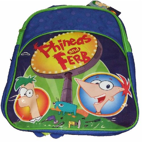 Phineas And Ferb Junior Backpack Childs Kids Rucksack School Nursery Bag