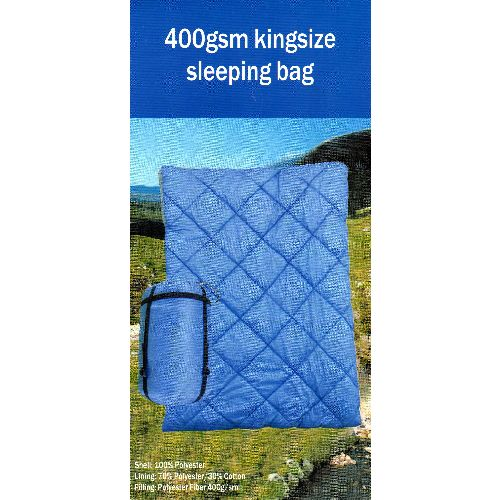 Pro Action 400 GSM King Size Sleeping Bag