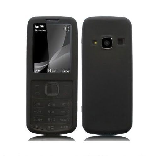 Black Silicone Case Rubber Cover For Nokia 6700 Classic Mobile Phone
