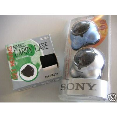 Sony Mini Disc Walkman Starter Pack Accessory Kit Speakers Case