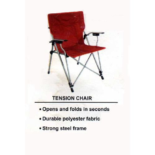 Folding Tension Chair with Carry Bag Ideal for Camping