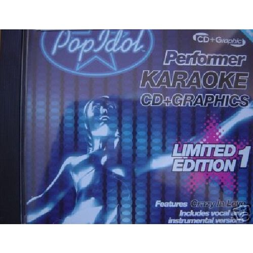 Pop Idol Performer Karaoke CD Disc + Graphics