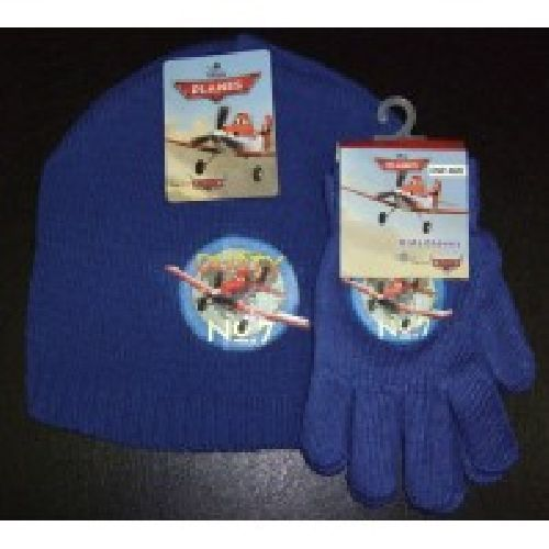 Disney Planes Knitted Hat & Glove Set Childs Kids Ages: 2-4 Years