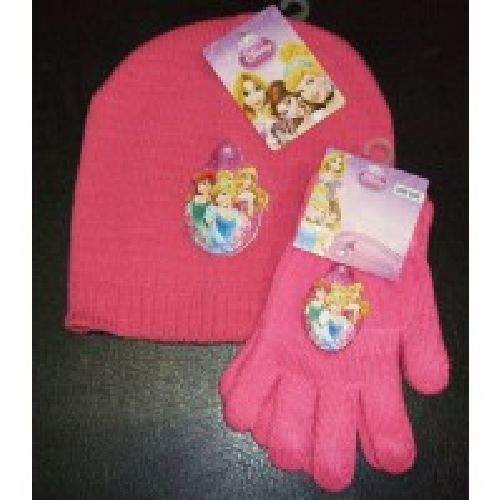 Disney Princess Knitted Hat & Glove Set Childs Kids Ages: 2-4 Years