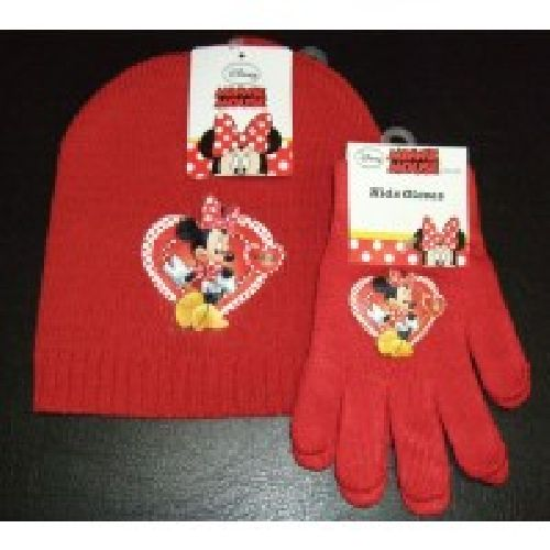 Disney Minnie Mouse Knitted Hat & Glove Set Childs Kids Ages 2-4 Years