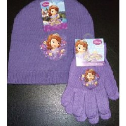 Disney Sofia The First Knitted Hat & Glove Set Childs Kids Age 2-4 Years