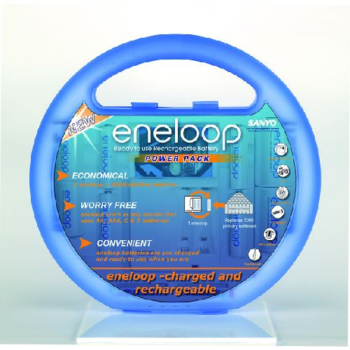 Sanyo Eneloop Rechargable Battery Power Pack Kit only £19.99