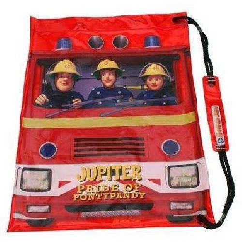 Fireman Sam Swimming Bag Childs Kids Pool Beach PVC Swim