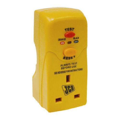 JCB Safety RCD Adaptor Plug Heavy Duty