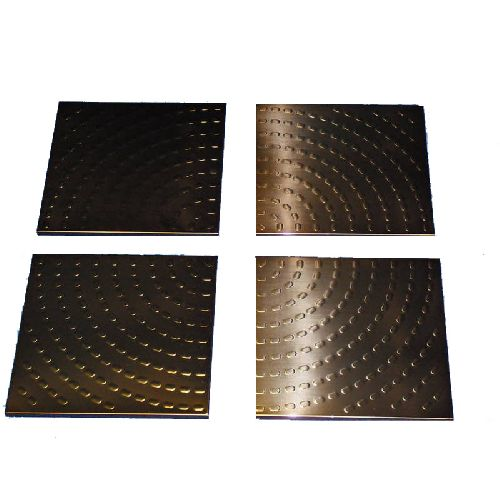 Set of 4 Stylish Contemporary Metal Wall Art